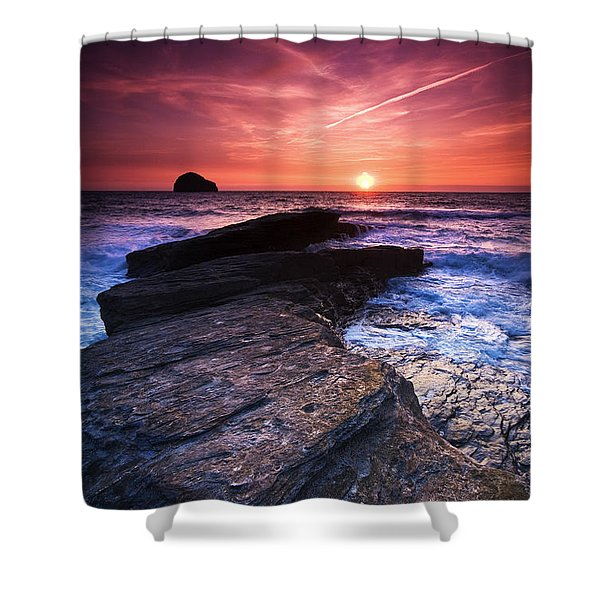 Cornish Sunset Shower Curtain