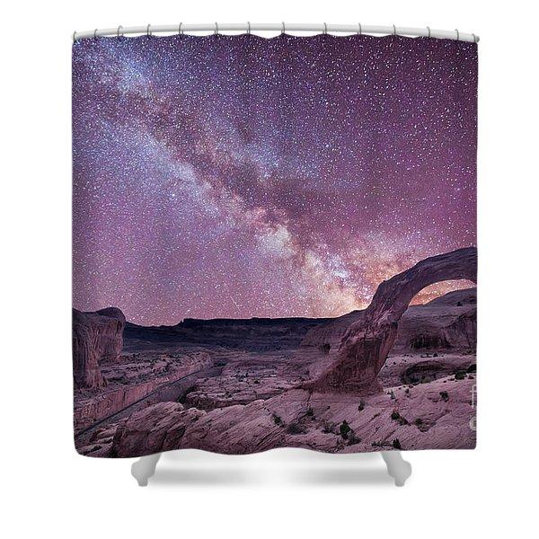 Corona Arch Milky Way Shower Curtain