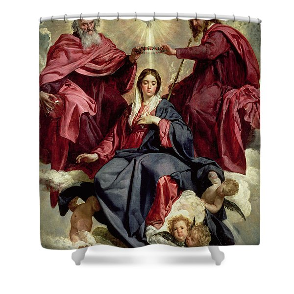 Coronation Of The Virgin Shower Curtain
