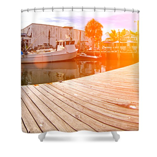 Cortez Fishing Village Shower Curtain