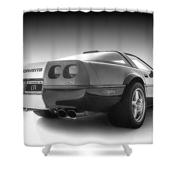 Corvette C4 Shower Curtain