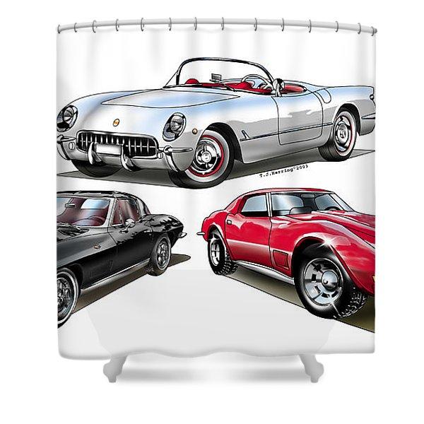 Corvette Generation Shower Curtain
