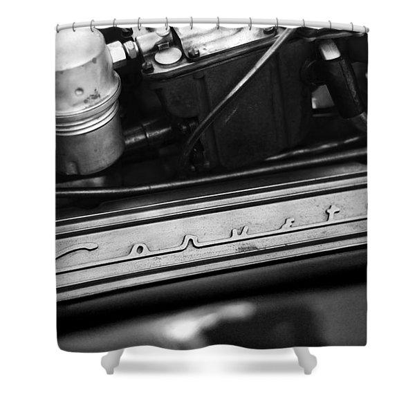 Corvette Valve Cover Shower Curtain