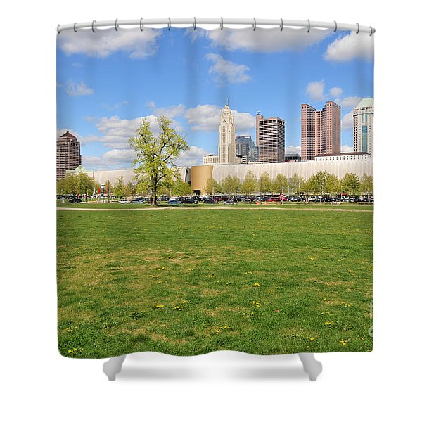 D7l-89 Cosi Columbus Photo Shower Curtain