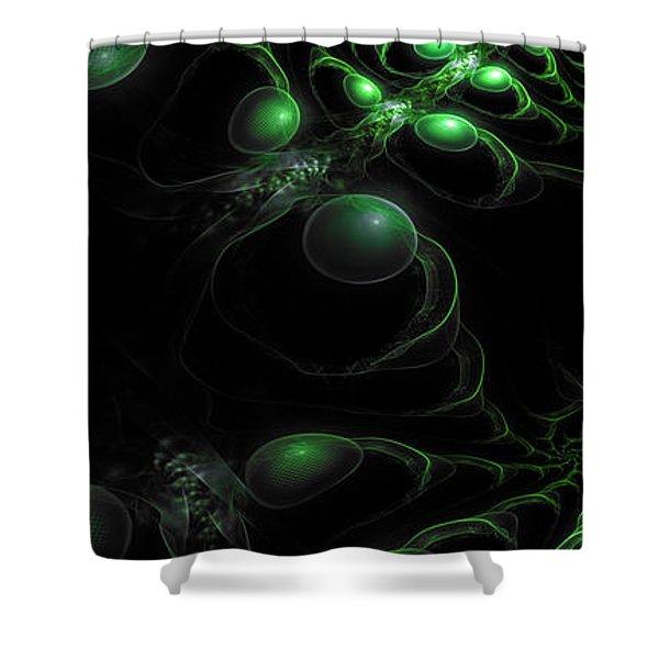 Cosmic Alien Eyes Original Shower Curtain