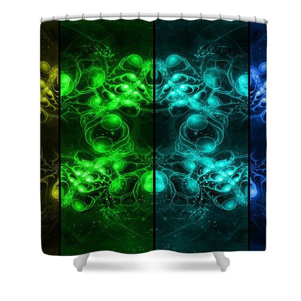 Cosmic Alien Eyes Pride Shower Curtain