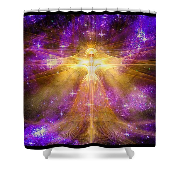 Cosmic Angel Shower Curtain