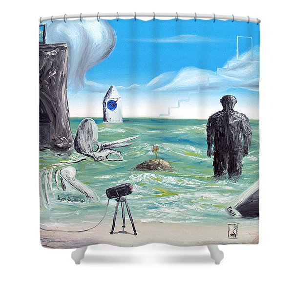 Cosmic Broadcast -last Transmission- Shower Curtain