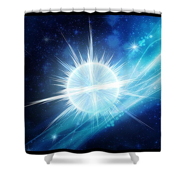 Cosmic Icestream Shower Curtain