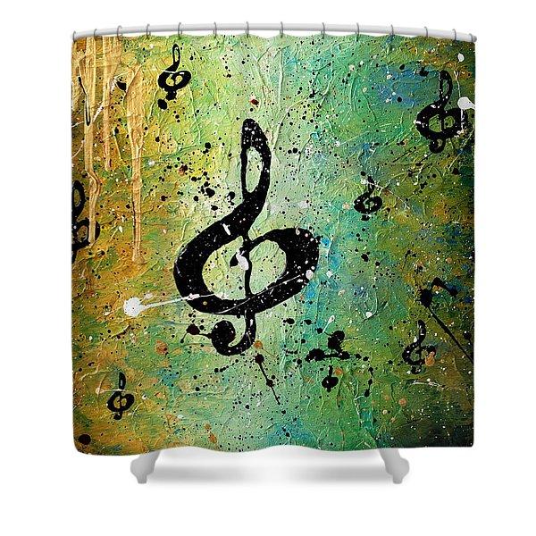 Cosmic Jam Shower Curtain