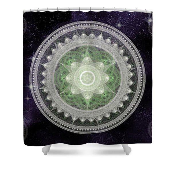 Cosmic Medallians Rgb 2 Shower Curtain