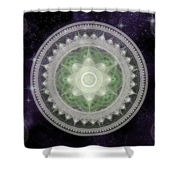 Cosmic Medallions Earth Shower Curtain