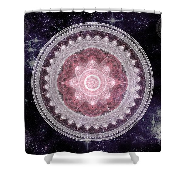 Cosmic Medallions Fire Shower Curtain