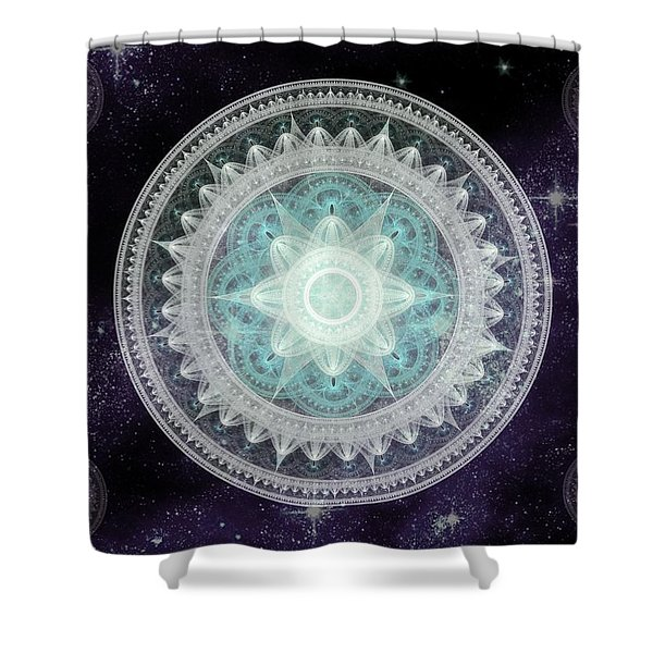 Cosmic Medallions Water Shower Curtain