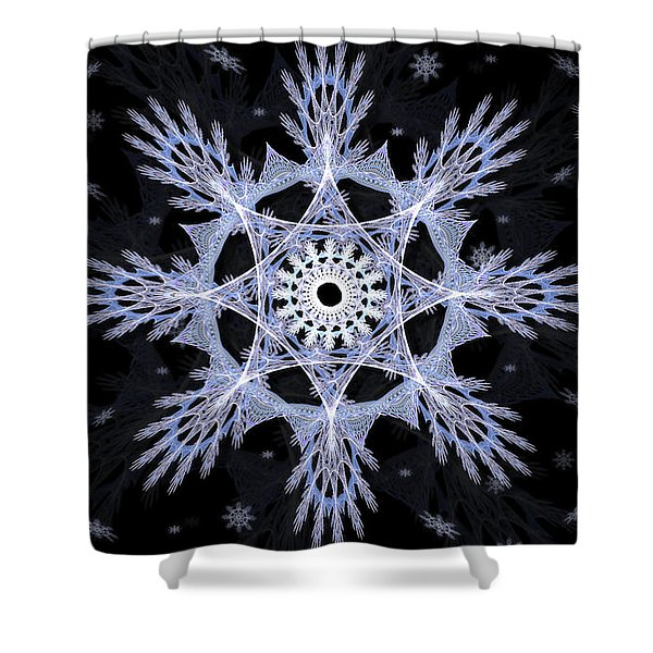 Cosmic Snowflakes Shower Curtain