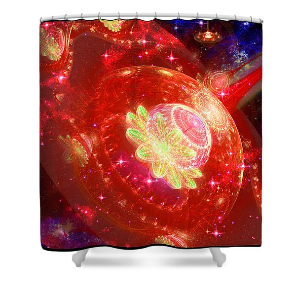 Cosmic Space Station 2 Shower Curtain