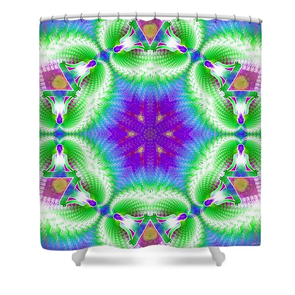 Cosmic Spiral Kaleidoscope 10 Shower Curtain
