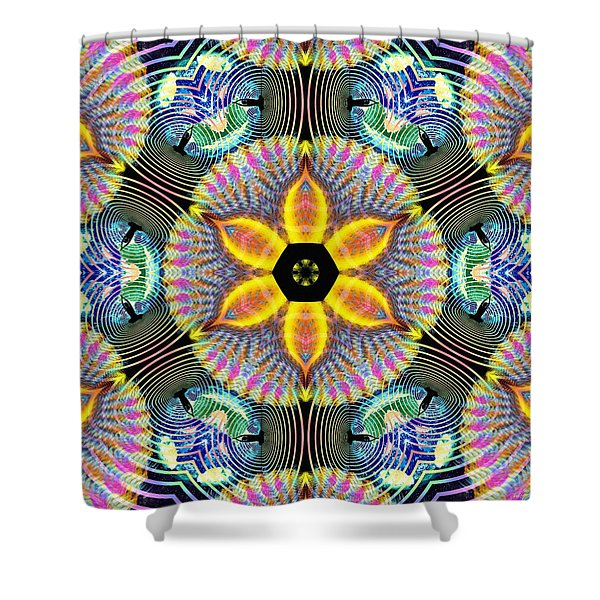 Cosmic Spiral Kaleidoscope 13 Shower Curtain