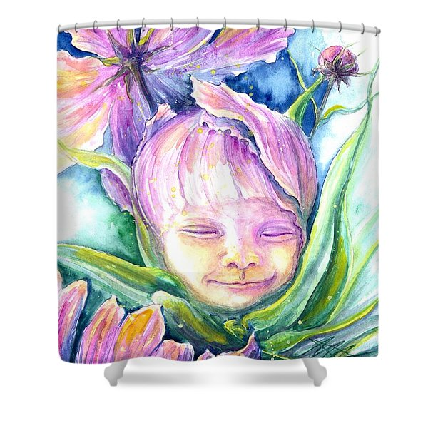 Cosmos Bud Shower Curtain
