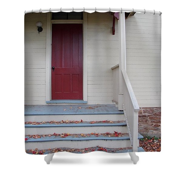 Cozy Cottage Door Shower Curtain