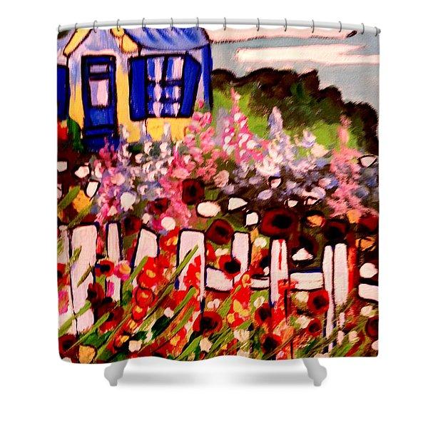 Cottage Garden Revised Shower Curtain