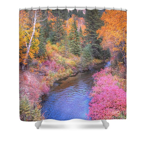Cotton Candy Creek Shower Curtain