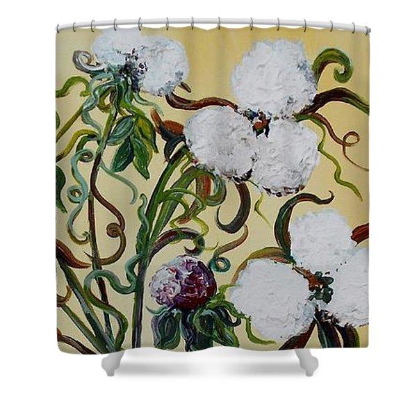 Cotton Triptych Shower Curtain