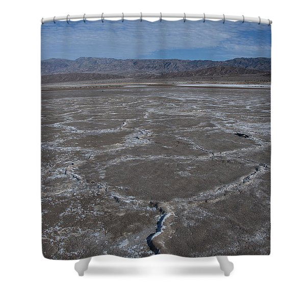 Cottonball Basin At Death Valley Shower Curtain
