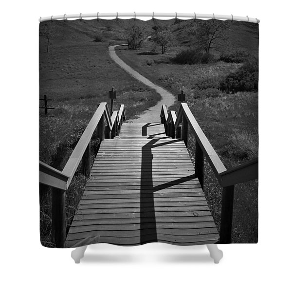 Coulee Stairs Shower Curtain