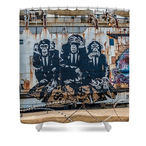 Council Of Monkeys 2 Shower Curtain