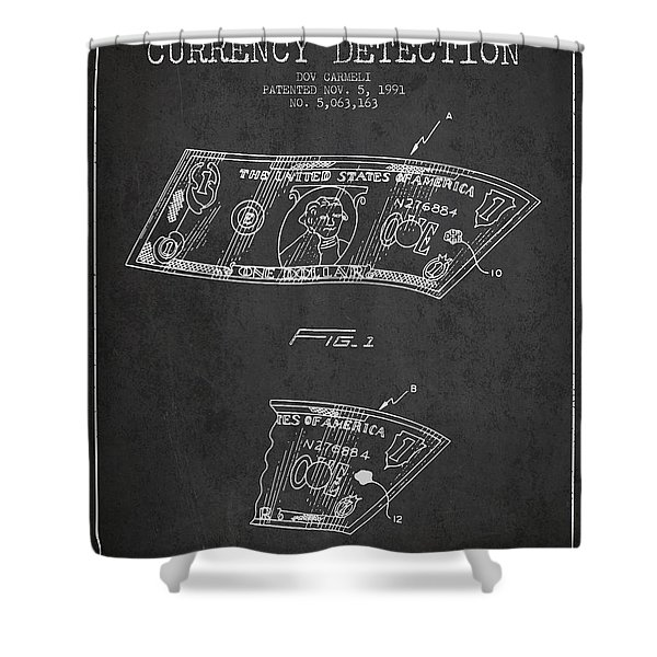 Counterfeit Currency Detection Patent From 1991 - Charcoal Shower Curtain