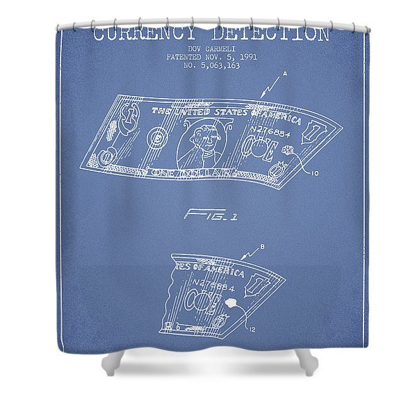Counterfeit Currency Detection Patent From 1991 - Light Blue Shower Curtain