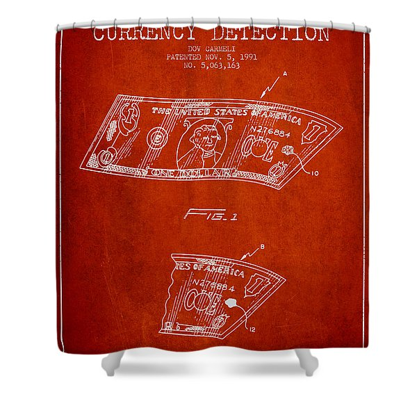 Counterfeit Currency Detection Patent From 1991 - Red Shower Curtain