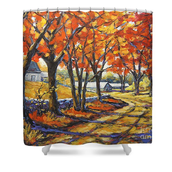 Country Lane Sentinels  Created By Prankearts Shower Curtain