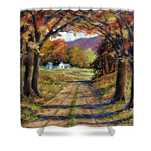 Country Livin  Shower Curtain