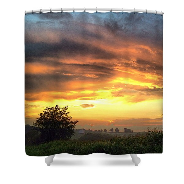 Country Scene From Hilltop To Hilltop Shower Curtain