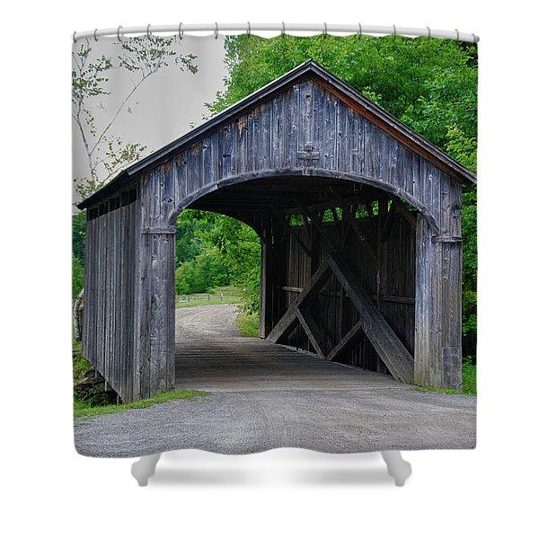Country Store Bridge 5656 Shower Curtain