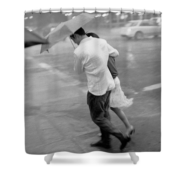 Couple In The Rain Shower Curtain