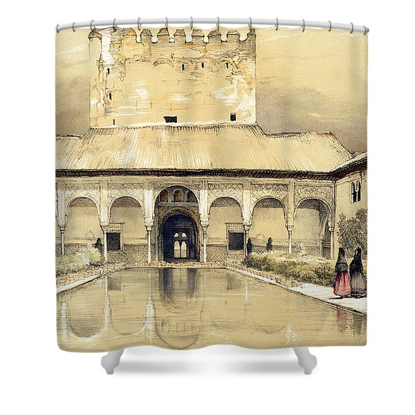 Court Of The Myrtles And The Tower Shower Curtain