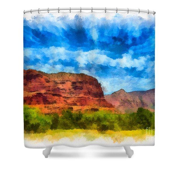 Courthouse Butte Sedona Arizona Shower Curtain