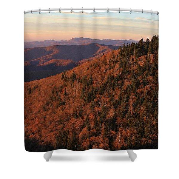 Courthouse Ridge On The Blue Ridge Parkway Shower Curtain