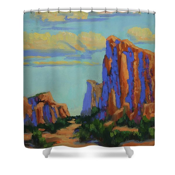 Courthouse Rock In Sedona Shower Curtain