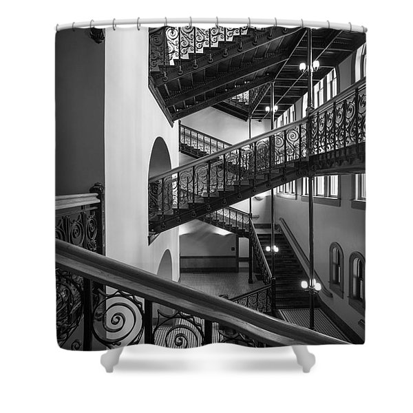 Courthouse Staircases Shower Curtain