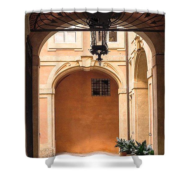Courtyard Of Siena Shower Curtain