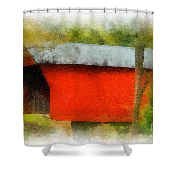 Covered Bridge - Sinking Creek Shower Curtain