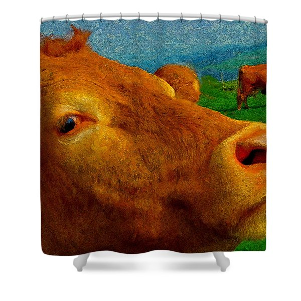 Cow Cameo Shower Curtain