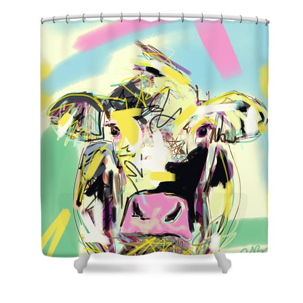 Cow- Happy Cow Shower Curtain