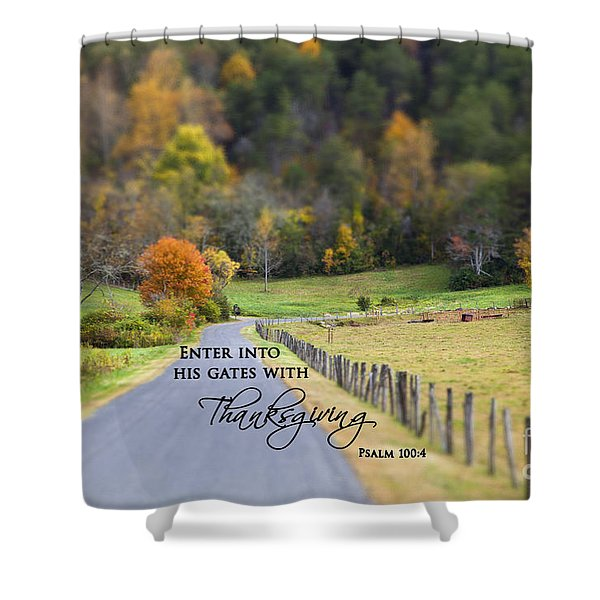 Cow Pasture With Scripture Shower Curtain