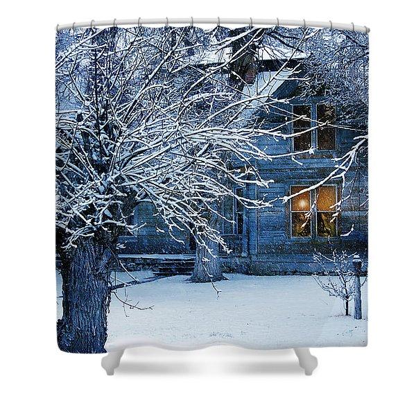 Shower Curtain featuring the photograph Cozy by Gunter Nezhoda