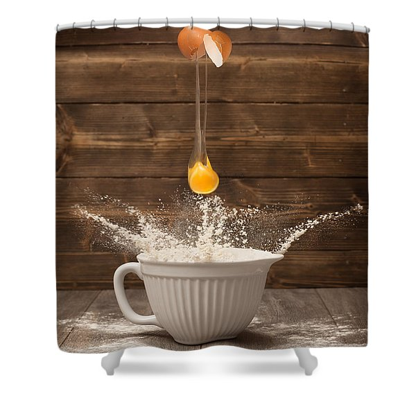 Cracking The Egg Shower Curtain